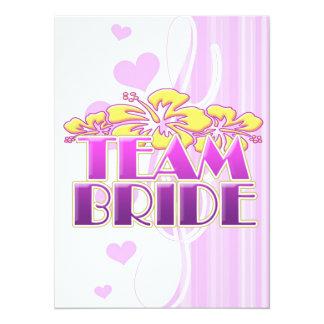 Floral Team Bride Bridesmaids wedding classy fun 14 Cm X 19 Cm Invitation Card