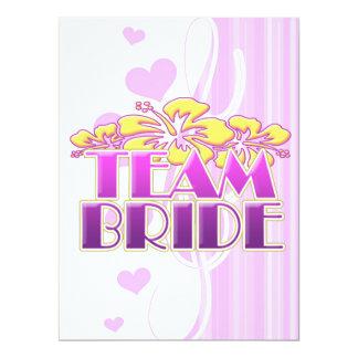 Floral Team Bride Bridesmaids wedding classy fun 17 Cm X 22 Cm Invitation Card