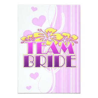 Floral Team Bride Bridesmaids wedding classy fun 9 Cm X 13 Cm Invitation Card
