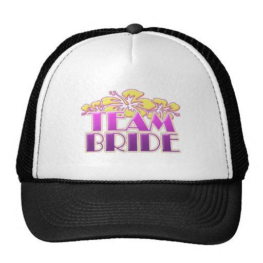 Floral Team Bride Bridesmaids wedding classy fun Mesh Hats