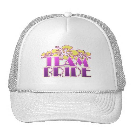 Floral Team Bride Bridesmaids wedding classy fun Hats