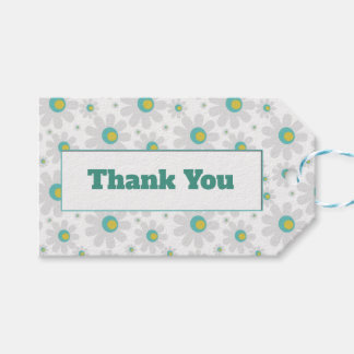 Floral thank you gift tag