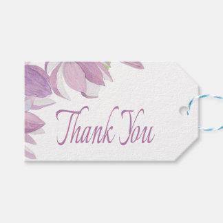 Floral Thank You Lavender Watercolor Purple Flower