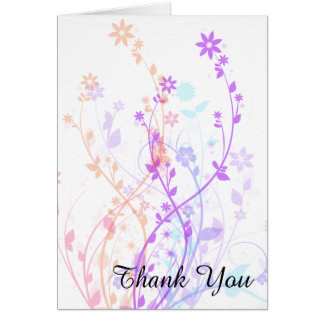Floral Thank You Notecard
