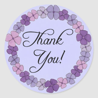 Floral Thank You Stickers