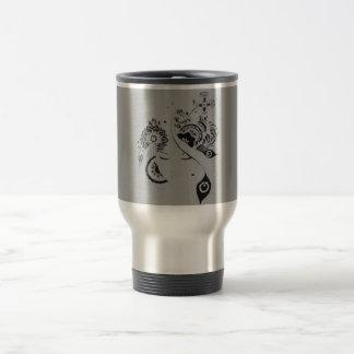 Floral thermal mug doodle