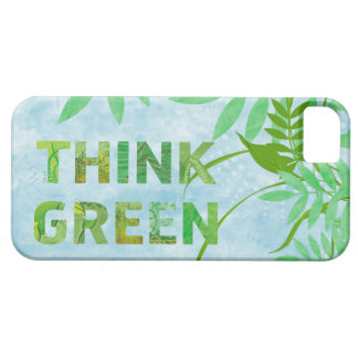 Floral Think Green iPhone 5 Case