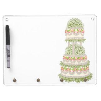 Floral Three Tier Wedding Cake Dry Erase Board