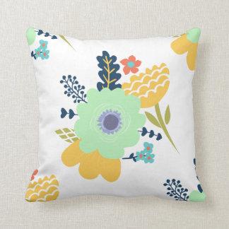 Floral throw pillow home decor