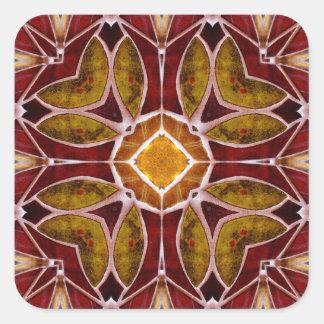 Floral Tile Square Sticker