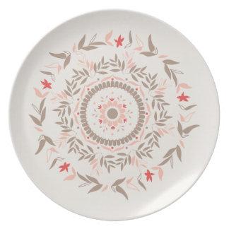 Floral Tiles Plate