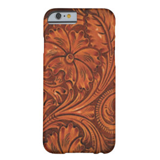 floral tooled leather style iphone barely there iPhone 6 case