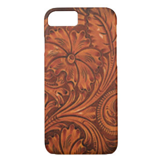 floral tooled leather style iphone iPhone 7 case