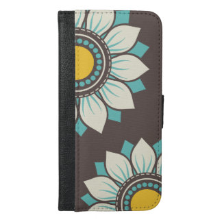 Floral Trendy Colorful Design iPhone 6/6s Plus Wallet Case