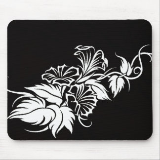 floral tribal vine tattoo mousepad
