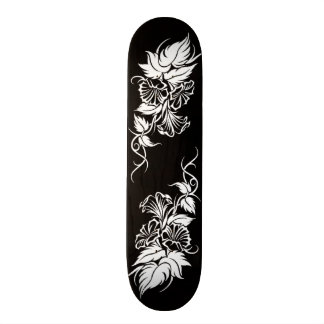 floral tribal vine tattoo skate deck