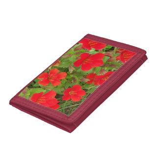 Floral TriFold Nylon Wallet