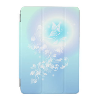 Floral Turquoise Butterfly iPad Mini Cover