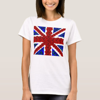 floral union jack,cool unionjack,trendy union jack T-Shirt