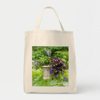 Floral Urn Grocery Tote Grocery Tote Bag