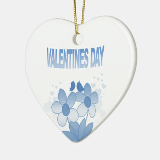 Floral Valentines Day Christmas Ornament