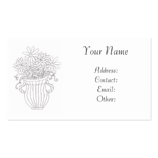 Floral Vase Double-Sided Standard Business Cards (Pack Of 100)