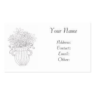 Floral Vase Pack Of Standard Business Cards
