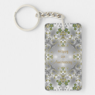 Floral Victorian Style Key Chain - Customizable