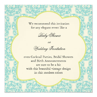 Floral Vine Medallion Invitation