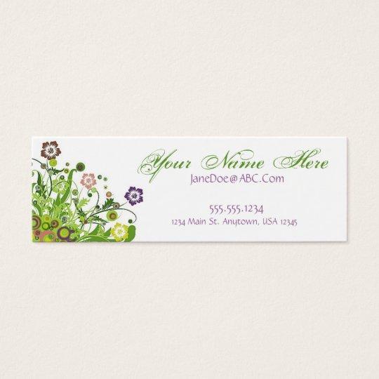 Floral Vines Mini Business Card