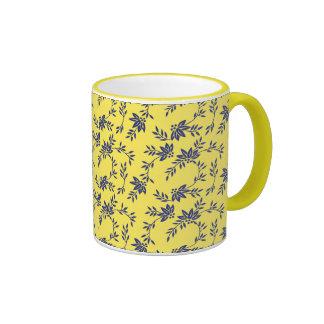 Floral Vines Ringer Mug