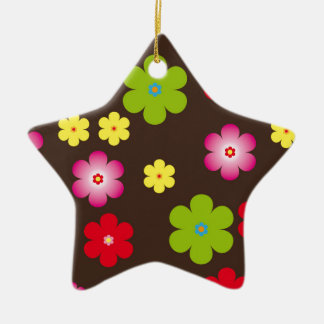 Floral vintage background christmas ornament