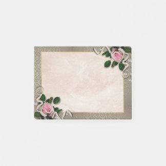 Floral vintage decoration post-it notes
