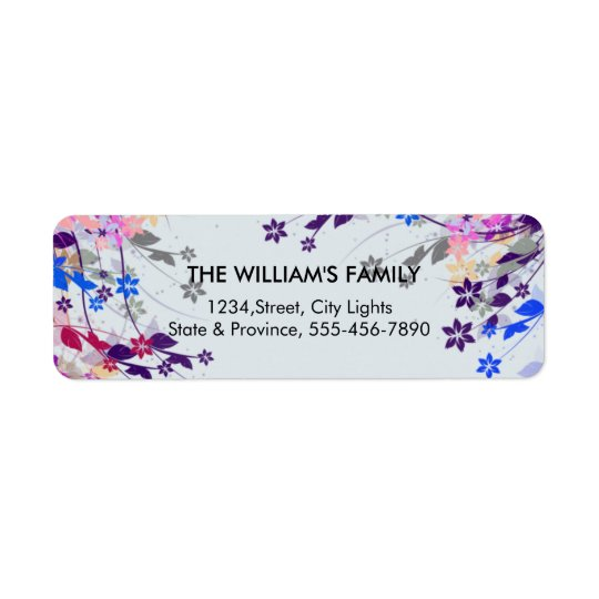 Floral Vintage Decorative Swirl Return Labels