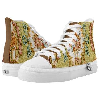 Floral Vintage Design Printed Shoes