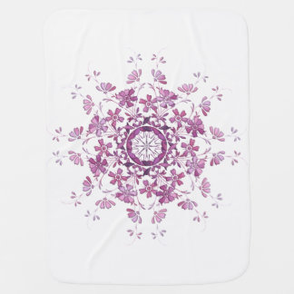 floral vintage element baby blanket