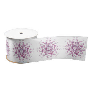 floral vintage element satin ribbon