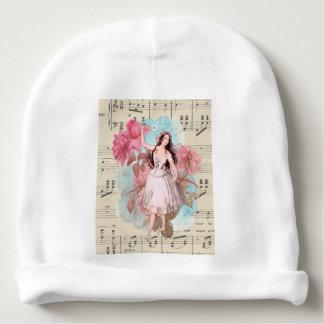 Floral Vintage Fairy Music Ballerina Dancer Baby Beanie
