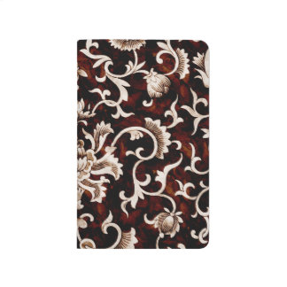 Floral Vintage Fancy Flower Damask Classic Design Journals
