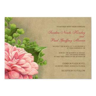 Floral Vintage Peony Classy Elegant Wedding Invite
