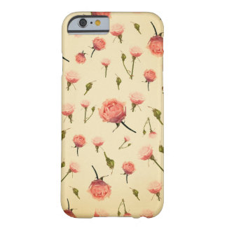 Floral vintage pink girly offwhite 1920s art deco iPhone 6 case