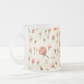 Floral vintage pink girly offwhite 1920s art deco mugs