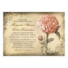 Floral Vintage - Pink Peony Wedding Invitations