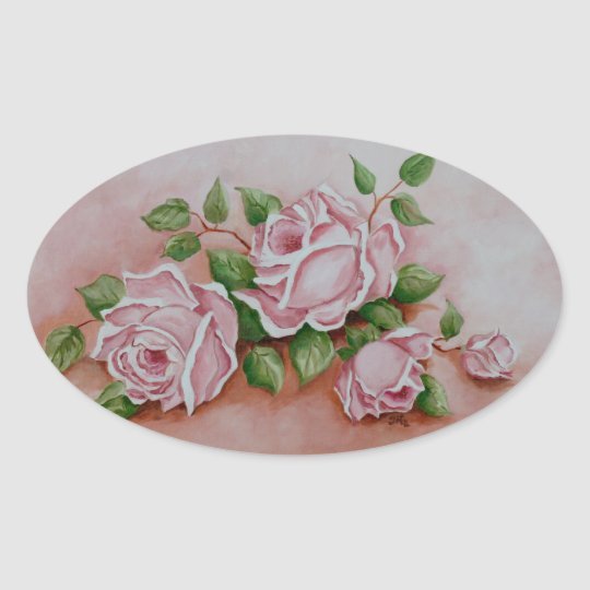 Floral Vintage Pink Rose Flowers - Shabby Chic