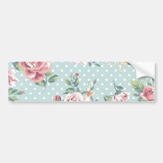 Floral Vintage Print Bumper Sticker