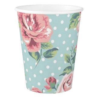 Floral Vintage Print Paper Cup