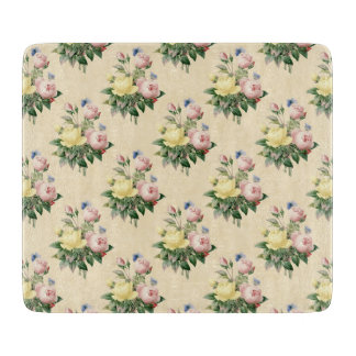 Floral vintage rose flower pattern cutting board
