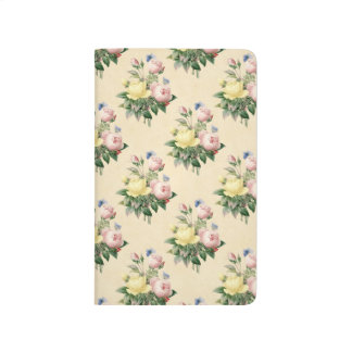 Floral vintage rose flower pattern journal