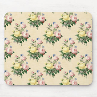 Floral vintage rose flower pattern mousepad