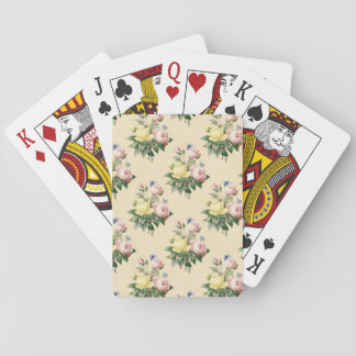 Floral vintage rose flower pattern playing cards